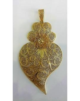 Pendente Coração de Filigrana em Ouro